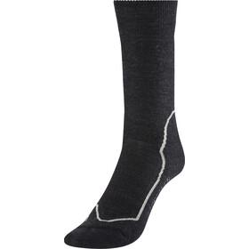 Icebreaker Hike+ Medium Crew Socks Damen jet hthr/silver/black